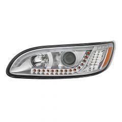 Peterbilt 386 387 Chrome Headlight with Turn Signal