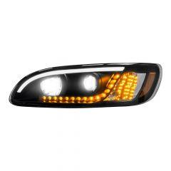 Peterbilt 386 387 Blackout Headlight with Turn Signal