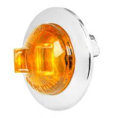 "1"" LED Dual Function Wide Angle Mini Light with Chrome Bezel"