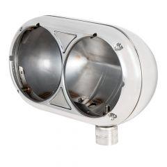 PB 359 Stainless Classic Dual Headlight Housing