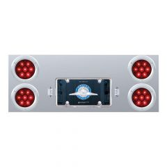 """Stainless Steel Rear Center Panel with 4"""" 7 LED Lights"""