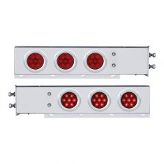 """Stainless Steel Two-Piece Rear Light Bar with 4"""" 7 LED Lights"""