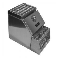 "Scratch & Dent - 18"" Smooth Aluminum Step Tool Box"