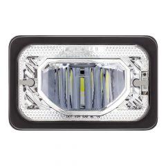 "6"" x 4"" Chrome Heated LED Low Beam Headlight"