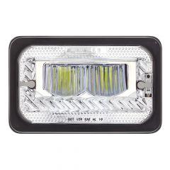 """6"""" x 4"""" Chrome Heated LED High Beam Headlight"""
