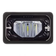 "6"" x 4"" Blackout Heated LED Low Beam Headlight"