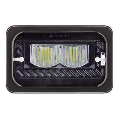 "6"" x 4"" Blackout Heated LED High Beam Headlight"