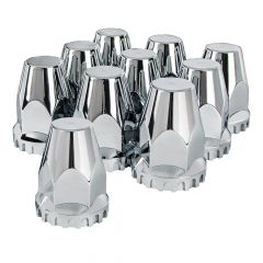33mm Chrome Tapered Nut Cover - Thread On 10PK