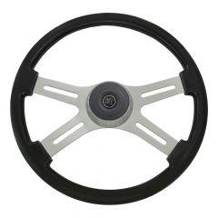 "18"" Classic Black Wooden Steering Wheel"