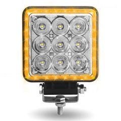 """4.25"""" Square Strobe Spot LED Work Light"""
