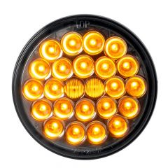 """4"""" Pearl 24 LED Dual Function Light with Smoke Lens"""