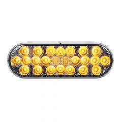"6-1/2"" Oval 24 LED Amber Light with Smoke Lens"