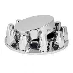 Chrome Flat Top Front Axle Cover