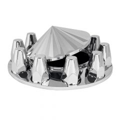 Chrome Axis Top Front Axle Cover Kit