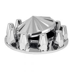 Chrome Spoke Top Front Axle Cover Kit