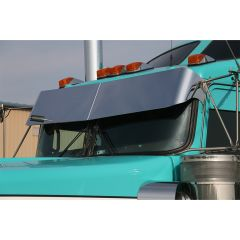"""Kenworth Curved Windshield 13"""" Rival Straight Drop Visor"""