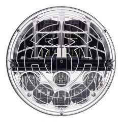 """7"""" Round LED Headlight with Heated Polycarbonate Lens"""