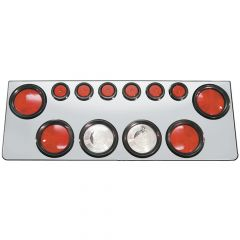 Stainless Rear Center Panel w/Incandescent Lights