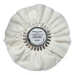 "Zephyr 10"" White Bleached Combed Cotton Airway Final Finish Coloring Buff Buffing Wheel"