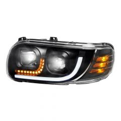 Peterbilt 388/389 Blackout Headlight with LED Position and Turn Signal