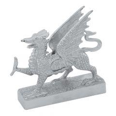 Chrome Flying Dragon Hood Ornament