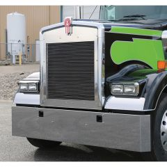 """Kenworth W900B (2010 and older) and W900 L models 22"""" Mitered End Bumper"""