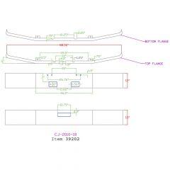 "Freightliner FLD 120 12"" Set Forward Chrome Bumper"