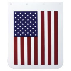 "24""W x 30""L American Flag White Poly Mud Flap (EA)"