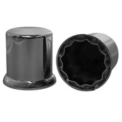 """1 1/2"""" Chrome Plastic Top Hat Nut Cover - Push On"""