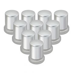 33mm Chrome Top Hat Nut Covers - Push On 10PK