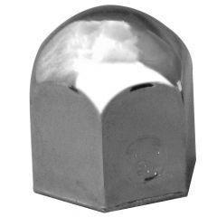 "7/8"" Chrome Steel Standard Nut Cover - Push On"