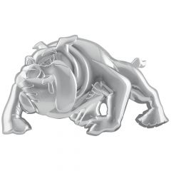 3D RH Chrome Bulldog Accent Tape Mount