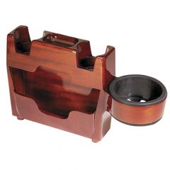 Peterbilt Wood Center Console With Cup Holder