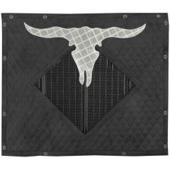 Reflective Cow Skull Quilted Winterfront