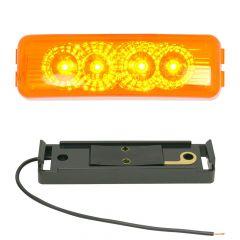 "4"" 4 LED Spyder Light with Black Rim"