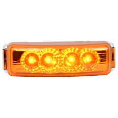 """4"""" Amber Spyder LED Light with Chrome Rim"""