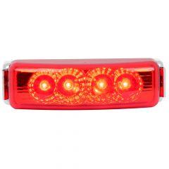 "4"" Red Spyder LED Light with Chrome Rim"