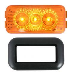 "2-1/2"" 3 LED Spyder Light with Grommet"