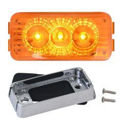 "2-1/2"" 3 LED Spyder Light with Chrome Bracket"