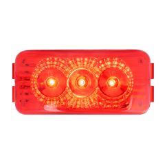 """2-1/2"""" Red 3 LED Rectangular Spyder LED Light"""