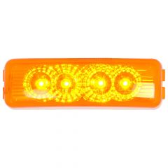 """4"""" Amber 4 LED Rectangular Spyder LED Light"""