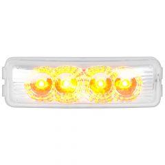 """4"""" Amber/Clear 4 LED Rectangular Spyder LED Light"""
