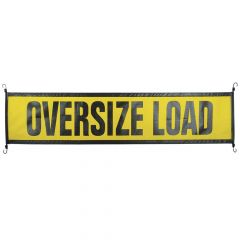 "18"" x 84"" Oversize Load Sign with Thick EZ Hooks"