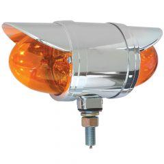 "3-1/2"" Amber Double Face Spyder LED Light with Visor"