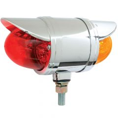 "3-1/2"" Amber/Red Double Face Spyder LED Light with Visor"