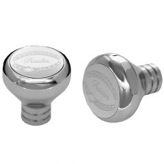 Chrome Tractor & Trailer Air Valve Knobs Thread On