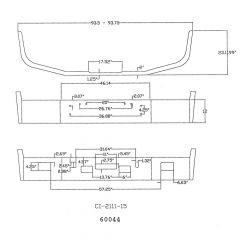 "12"" Chrome Bumper for Freightliner FLD112, FLD120"