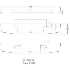 """16"""" Tapered Chrome Bumper for Mack ValueLiner"""