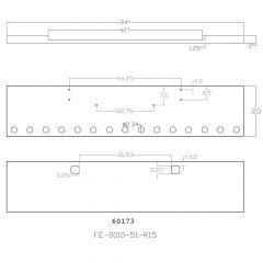 20-Inch Texas Square Chrome Bumper for Kenworth W900L