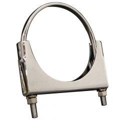 "5""D Chrome Welded Saddle Clamp Flat U-Bolt"
